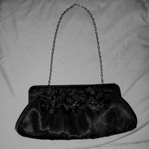 Black Satin Clutch Purse